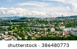 general view of trondheim on a... | Shutterstock . vector #386480773