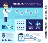 medical infographics with... | Shutterstock . vector #386483527