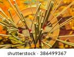 worship incense on blur... | Shutterstock . vector #386499367