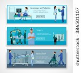 medical professionals at work... | Shutterstock . vector #386501107