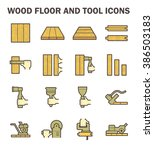 wood floor and tool vector icon ... | Shutterstock .eps vector #386503183