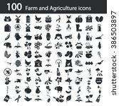 set of one hundred agriculture...   Shutterstock .eps vector #386503897