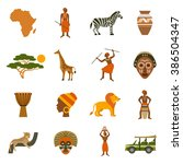 africa icons set | Shutterstock . vector #386504347