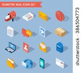 isometric mail icons | Shutterstock . vector #386504773