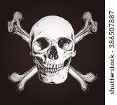 skull and two cross bones on a... | Shutterstock .eps vector #386507887