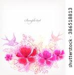 fantasy watercolor vector... | Shutterstock .eps vector #386518813