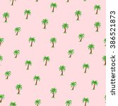 seamless tropical pattern with... | Shutterstock .eps vector #386521873