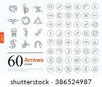 set of arrow icons for website... | Shutterstock .eps vector #386524987