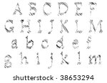 alphabet set illustration   a... | Shutterstock . vector #38653294