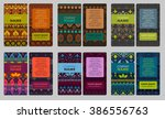 collection of colorful... | Shutterstock .eps vector #386556763
