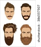 man hair and beards styles.... | Shutterstock .eps vector #386557507