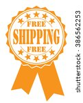 free shipping icon on white ... | Shutterstock .eps vector #386562253