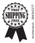 free shipping icon on white ... | Shutterstock .eps vector #386562277