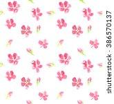 Seamless Pattern Of Pink...