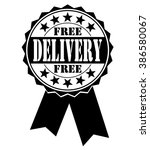 free delivery icon on white ... | Shutterstock .eps vector #386580067