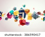 abstract colorful background... | Shutterstock .eps vector #386590417
