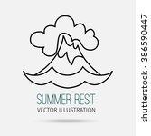 vector illustration. modern... | Shutterstock .eps vector #386590447