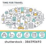 travel concept illustration ... | Shutterstock .eps vector #386590693