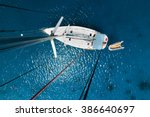 aerial view of the sailboat... | Shutterstock . vector #386640697