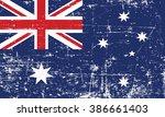 flag of australia. grungy  worn ... | Shutterstock .eps vector #386661403