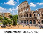 Colosseum With Clear Blue Sky ...