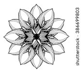 round mandala element for... | Shutterstock . vector #386699803