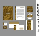 corporate identity template... | Shutterstock .eps vector #386700757