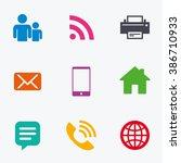 contact  mail icons.... | Shutterstock . vector #386710933