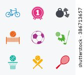 sport games  fitness icons.... | Shutterstock . vector #386713657