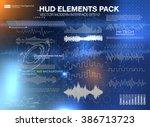set audio equalizer technology  ... | Shutterstock .eps vector #386713723