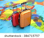 travel or tourism concept.... | Shutterstock . vector #386715757