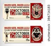 vintage circus ticket | Shutterstock .eps vector #386716183