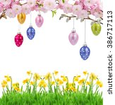 Colorful Hanging Easter Eggs...