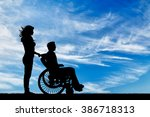 concept of disability and... | Shutterstock . vector #386718313