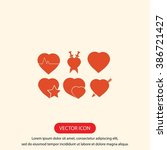 hearts icons  | Shutterstock .eps vector #386721427