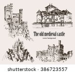 Set Medieval Castles Isolated...