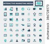 interactive marketing media... | Shutterstock .eps vector #386728573