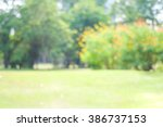 blur park with bokeh light... | Shutterstock . vector #386737153