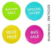 big sale tag  special offer ... | Shutterstock .eps vector #386742103