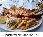 delicioso prato de lagosta em... | Shutterstock . vector #386765227