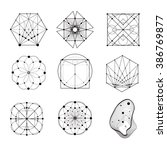 sacred geometry forms  shapes... | Shutterstock .eps vector #386769877