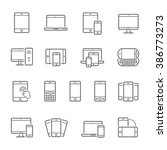 lines icon set   responsive... | Shutterstock .eps vector #386773273