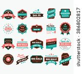 sale badges | Shutterstock .eps vector #386802817