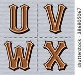 alphabet western letters... | Shutterstock .eps vector #386805067