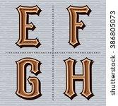 alphabet western letters... | Shutterstock .eps vector #386805073