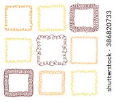 set of 9 decorative square... | Shutterstock .eps vector #386820733