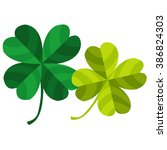 four leaf clover. | Shutterstock .eps vector #386824303