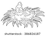 coloring  book.  hand drawn.... | Shutterstock .eps vector #386826187