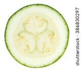 Slice Of Zucchini Isolated On...