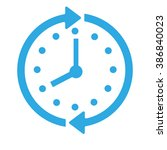 clock icon. save time vector.... | Shutterstock .eps vector #386840023